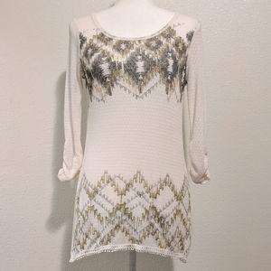 Maurices Semi Sheer Light Embellished Long Thermal
